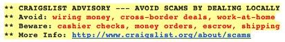 Craigslist-Advisory