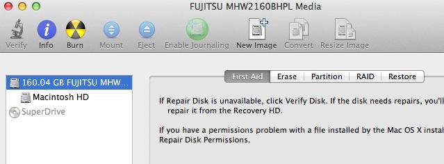 OS X Disk Utility