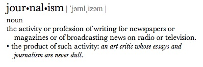 Journalism-Definiition