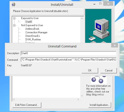 Install/Uninstall on Windows 8