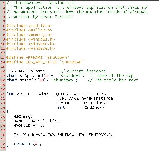 ShutDown Code
