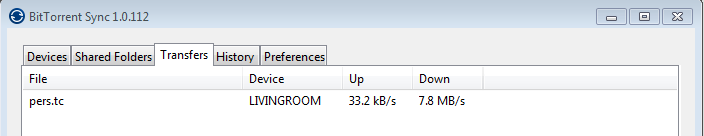 Bittorrent Sync LAN Speed