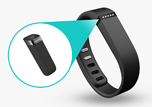 FitBit Flex with its sensor