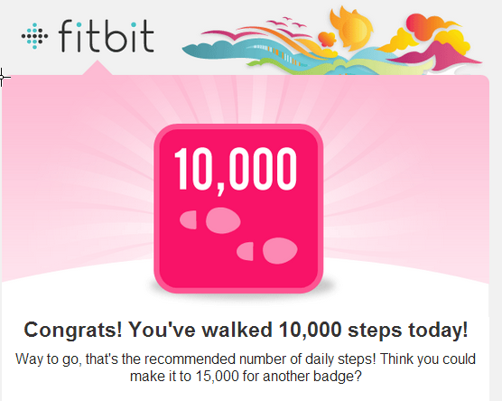 A badge earned with the FitBit Flex