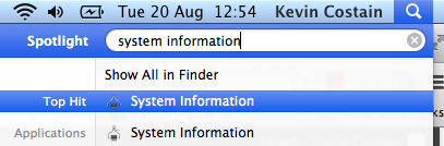 Using Search on OS X