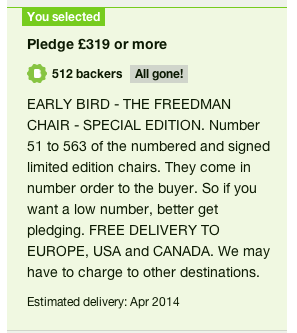 My pledge for The Freedman Chair
