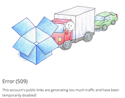 Dropbox 509 Error