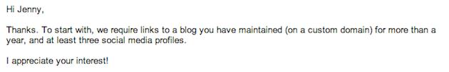 Guest Blog Response