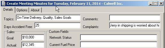 Meeting Minutes Editor Screenshot