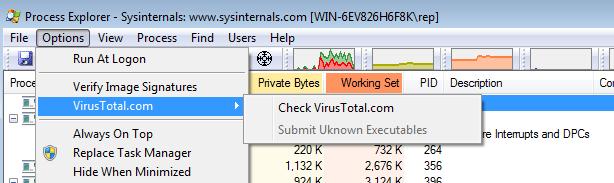Sysinternals Process Explorer 16