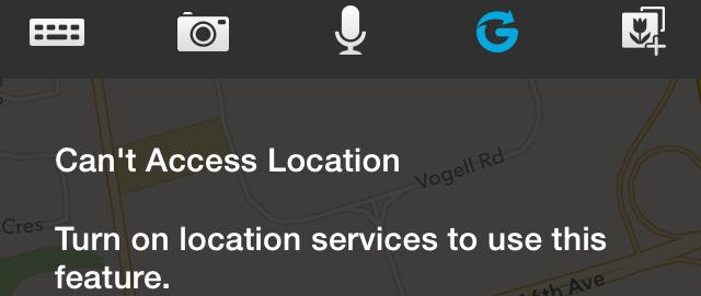 BBM's Glympse Location Service Error