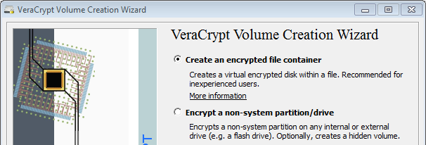 Veracrypt Volume Creation Wizard