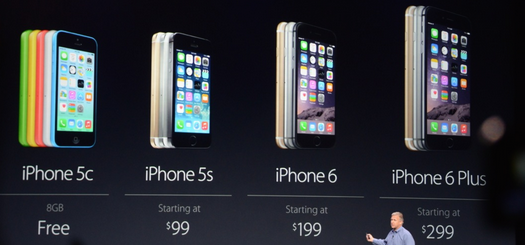 The Sept 2014 iPhone Lineup
