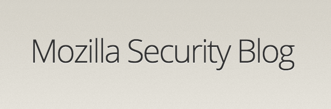 Mozilla Security Blog Logo