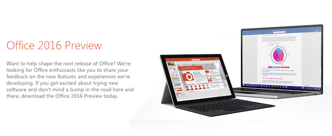 Office16 Preview Website