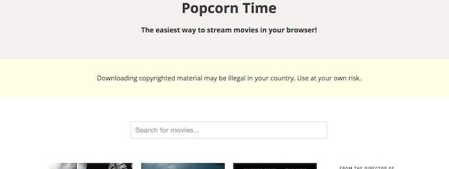 Popcorn Time Browser