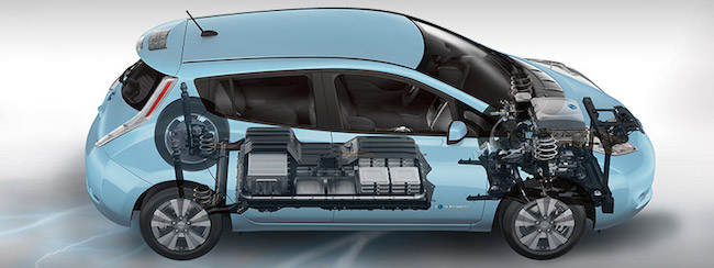 Nissan Leaf Battery View