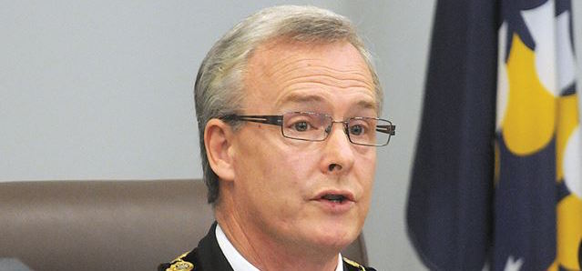 Oshawa Mayor John Henry on December 1, 2014