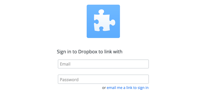 KeeWeb Dropbox Sign In