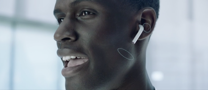 apple airpods in use