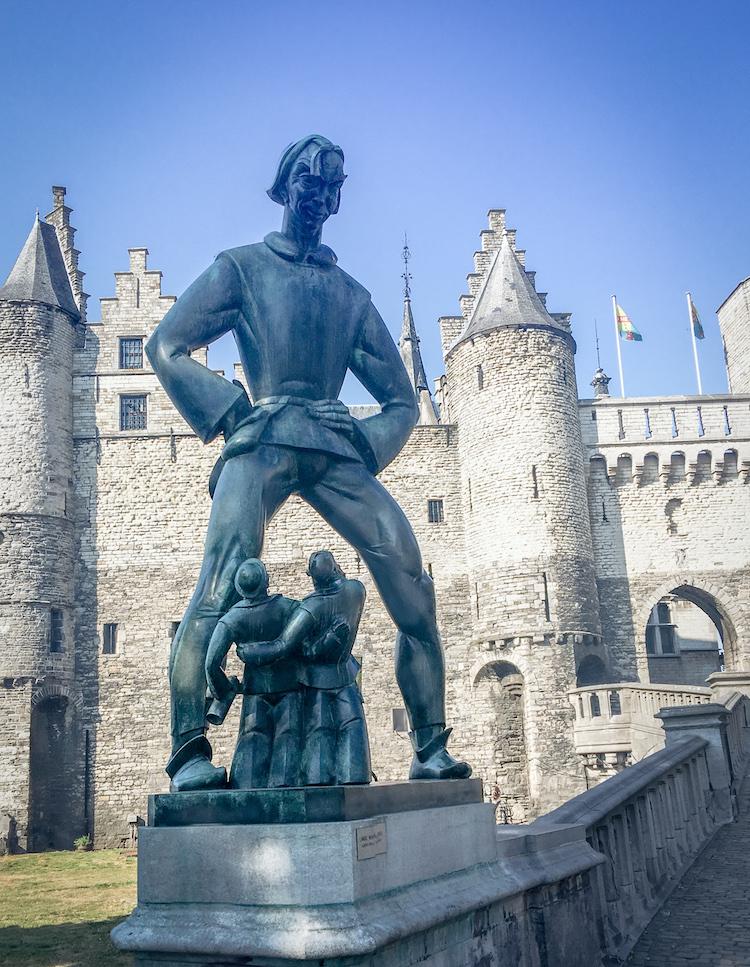 Lange Wapper, a Flemish folkloric character.