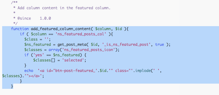 NS Featured Posts Code