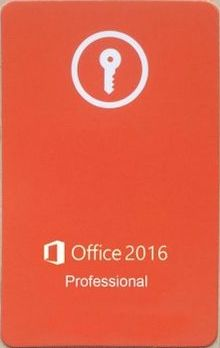 Office 2016 Key Card